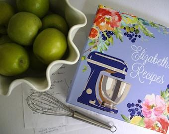 Personalized Citrus Blooms Recipe Binder