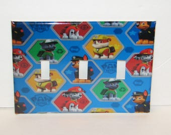 Paw Patrol Triple Switch plate light Cover Triple Toggle Plate