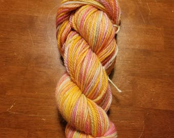 "hand-dyed 100% wool ""rainbow sherbet"""