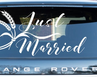 Wedding Car decal / Car Decal / Just Married Car decal / Wedding Getaway Car Decal / Just Married Banner *professional applicator included