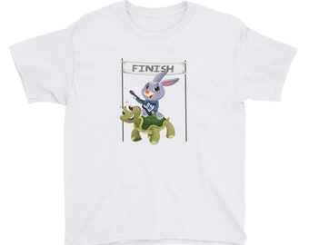 Tortoise & Hare Guitar Youth Short Sleeve T-Shirt