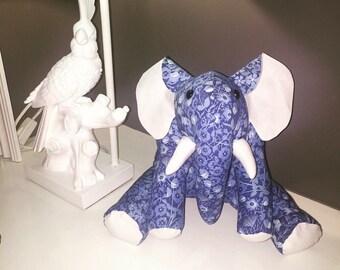 Handmade stuffed elephant