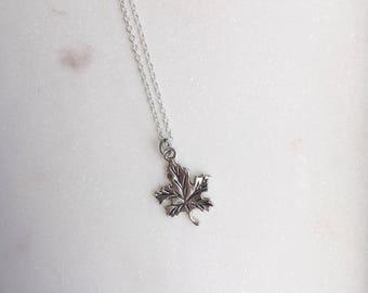 Autumn Leaf Necklace, Leaf Necklace, Oak Leaf Necklace, Leaf Jewellery