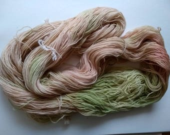 Handpainted yarn 4 ply Blue-faced Leicester 100% wool