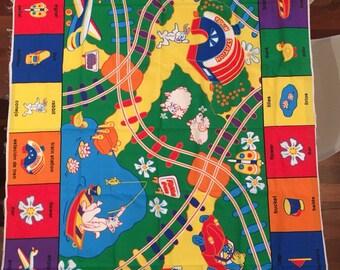 English to Spanish colorful Fabric Panel