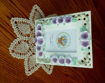 Polymer Clay Picture Frames - Shabby Chic Frames - Vintage Frames