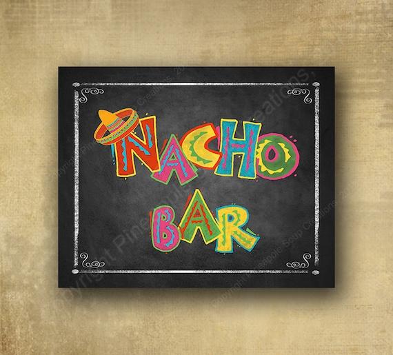 Printed Nacho Bar sign