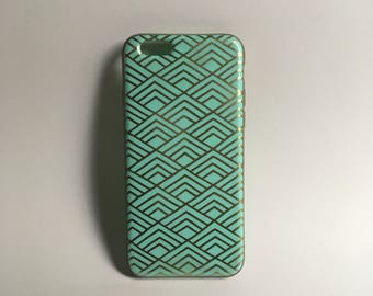 Green Patterned Phone Case