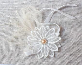 Lace Flower wrist corsage lace Bracelet   Free Shipping Vintage style Lace Bracelet Wedding Bracelet Bridesmaid Prom Flower Bracelet