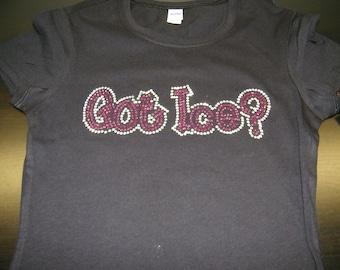 "Adult/Child - Got Ice ""Bling""  Custom Rhinestone Shirt"