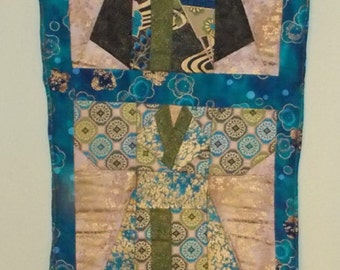 Quilted Kimono Wallhanging