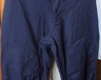 VINTAGE AIRFORCE PANTS, blue wool, patted knees, bottom, military uniform