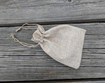 Burlap Gift Bag, Rustic Jewelry Pouch, Burlap Drawstring Bags, Burlap Favor Bag, Party Favor Bags, Burlap Party Bag