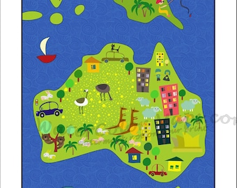 Australia animal map kids maps map of australia kids wall maps kids maps australia map for kids childrens maps map of australia kids wall maps kids room kids decor boys room girls room gumiabroncs Images