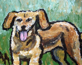 Dog Portraits, 16x20.  Vibrant acrylic paints on stretched canvas or paper.  Commission me....