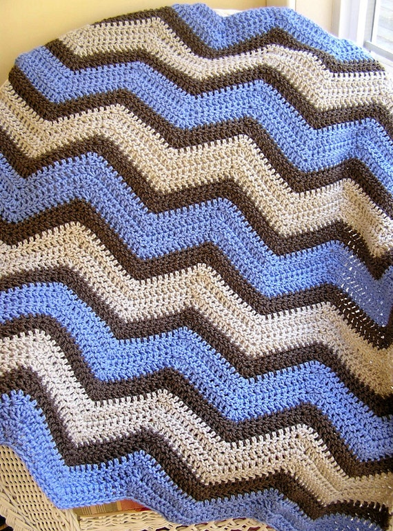 New Chevron Zig Zag Baby Blanket Afghan Crochet Knit Lap Robe