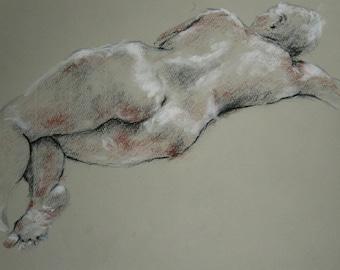 Charcoal Drawing/ Life Drawing/ Susanna Short Pose 3
