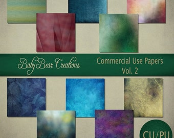 10 assorted digital scrap papers. A variety of colors & textures
