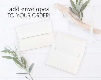 Envelopes Standard White 5x7 A7 | PrisellieDesigns