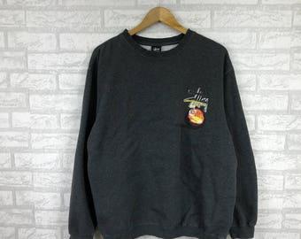 Stussy Sweatshirt Big Logo Spell Out Large mMRKj9oU