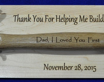 Father Of The Bride Gift ~ Engraved Hammer ~ Gift For Dad ~ Groomsmen Gift ~ Father Of The Groom ~ Stepfather Gift ~ Engraved Wedding Gift ~