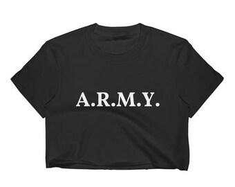 BTS Bangtan Boys A.R.M.Y. KPOP Crop Top