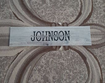 Personalized Ceramic Tile, Customized Family Sign, Couples Sign, Custom Wood Ceramic Tile, Marriage Sign, Wedding Sign's, Personalized Gifts