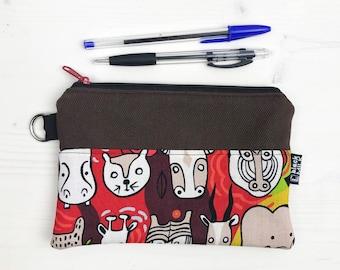 Teabag Organizer Pouch zipper door cheats pencil holder toothbrush zipper pouch