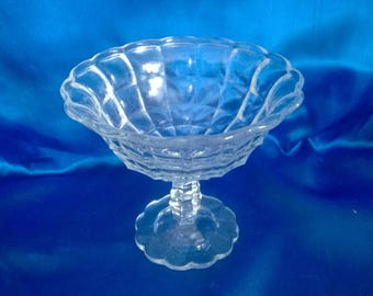 Vintage Pedistal Glass Sweet Bowl (A)