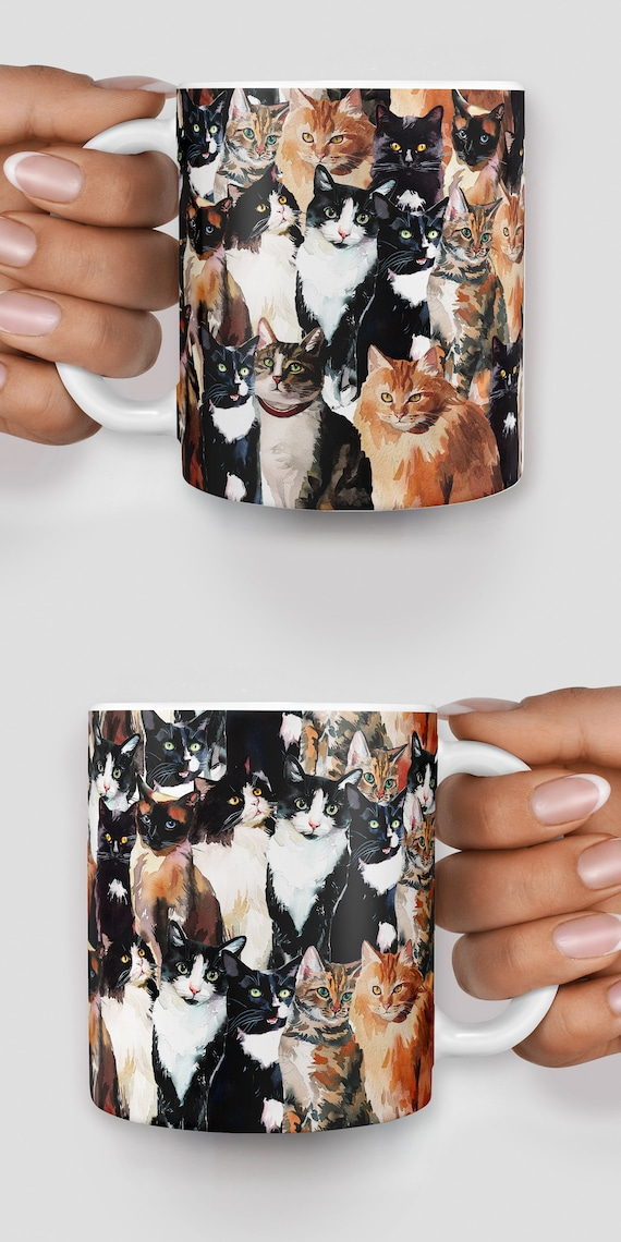 Cats everywhere mug - Christmas mug - Funny mug - Rude mug - Mug cup 4P121