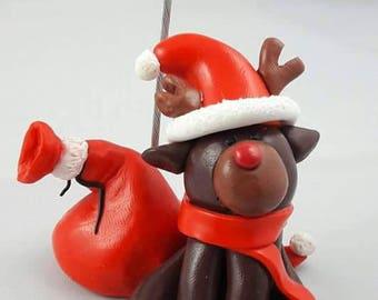 Santa reindeer photo holder