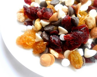 Sweet Salty Chocolate Fruit and Nut Mix Baking or Snacking Delicious Decadent Combo