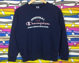 Rare!! CHAMPION Sweatshirt Big Logo Spellout