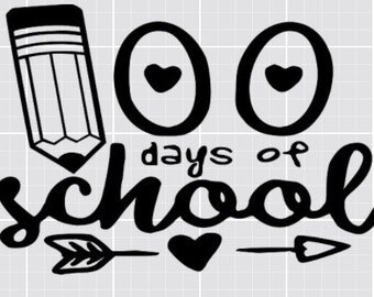 100 Days of School T-Shirt Iron On Decal