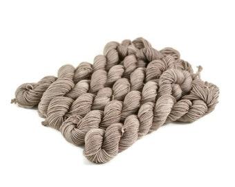 Mini Skeins, Hand Dyed Yarn, Sock Weight, Superwash Merino Wool Yarn, Fingering, Sock Yarn Mini, Merino nylon sock yarn - Sleeping Bear