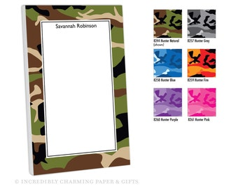 Personalized Notepad, Customized with name, monogram or colors, To Do,  Memo Pad, Camo Gift, Monogram Notepad, Teacher Notepad, Memo Pad