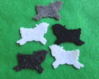 View felt shapes die cuts by pearcreekcottage on etsy felt mini sheep baby showers lamb cut outs hair accessories decorations publicscrutiny Gallery