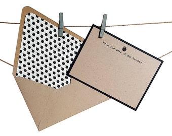 Apple Stationery - Teacher Stationery - Teacher Gift - Teacher Notecards - Apple Lined Envelopes - Personalized Stationery - 8 or 12 pc. set