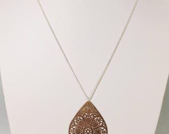 """Drop necklace"", rose gold color"