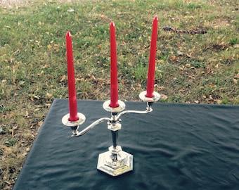 Candelabra, Candle Holder, Table Centerpiece, Vintage, Silver Candle Holder, Silver Candelabra, Vintage Candelabra, Home Decor, Gift For Her