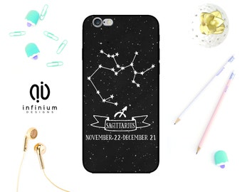 Sagittarius Case For iPhone 8, Samsung S9, S9 Plus, Samsung A8, Samsung A5, Samsung S8, S8 Plus, iPhone X, iPhone 7, 8 Plus, iPhone 6S & 5S