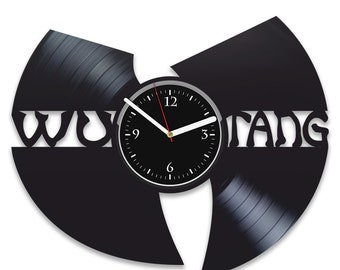 Rock Music Birthday Gift For Men Wu-Tang Clan Room Decor Wall Clock Modern Wu-Tang Clan Vinyl Record Wall Clock Wall Clock Vintage