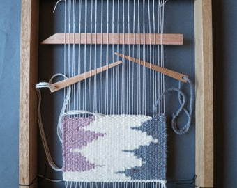 Weaving Loom Kit - Weaving frame, shed stick, yarn needle, weaving warp and yarn