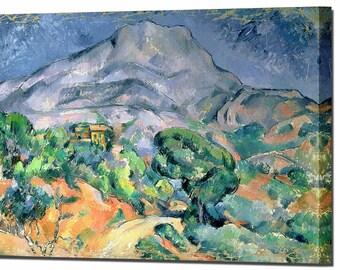 Paul Cezanne Mont Sainte Victoire Canvas Wall Art Print Wall Decor Wall Ready To Hang