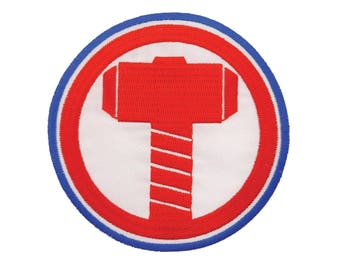 Thor Iron On Applique, Genuine Marvel Iron On Patch, Thor Hammer Patch, Thor Applique, Superhero Applique, Kids Patch, Embroidered Patch