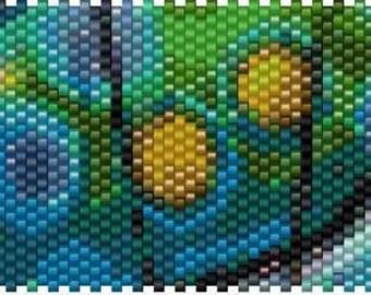 Peyote Stitch Pen Cover Pattern - 01