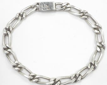 Ladies Vintage Sterling Silver Chain Bracelet 14.0 Grams Size 7.25 Hallmarked 925
