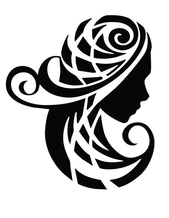 Items Similar To Virgo Zodiac Sign Tribal On Etsy