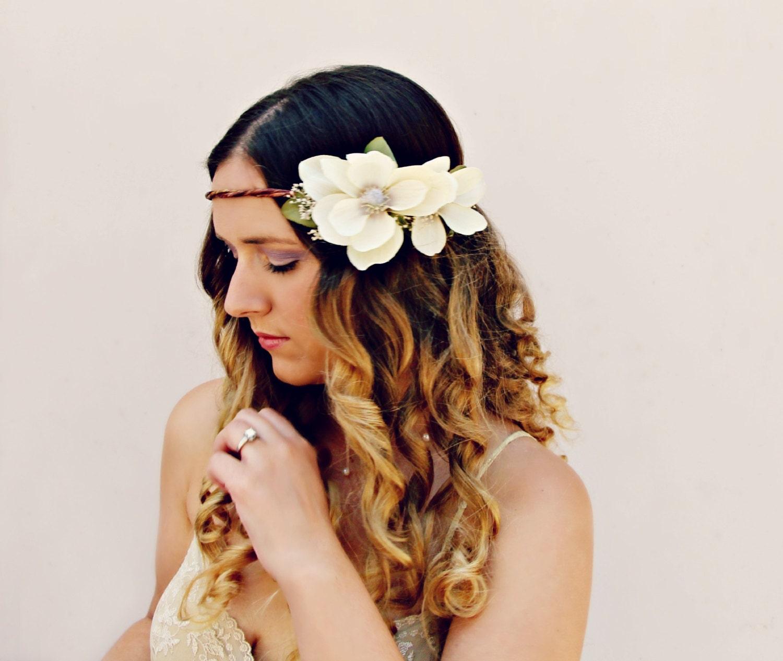 Alina romantic rustic flower crown magnolia flower crown wedding alina romantic rustic flower crown magnolia flower crown wedding hair accessories halo crown floral headband flower headpiece izmirmasajfo