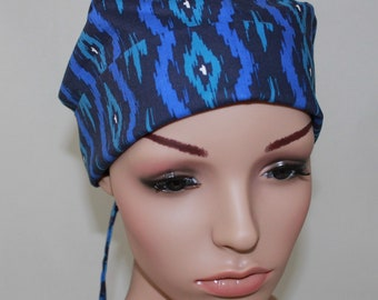Poppy,Surgical Scrub Hat,Chemo Style Scrub  Hat, Women's Surgical Scrub Hat,Vet,Vet Tech,OR Scrub Hat